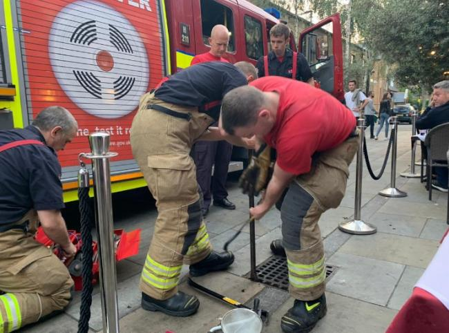 Firefighters help retrieve wedding ring from drain