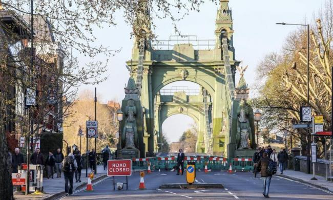 Hammersmith Bridge. Photo taken from archived Hammersmith and Fulham Council press release. Free to share with LDRS partners.