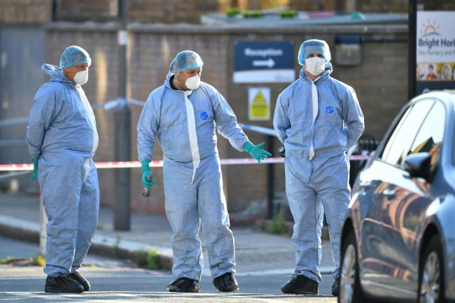 Police forensics on Latchmere Road