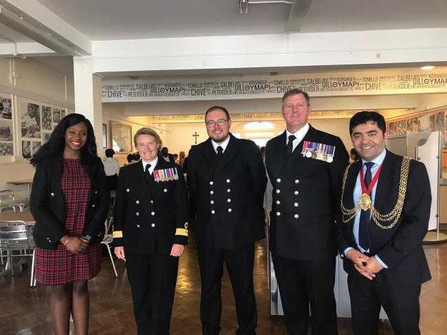 A Balham girls' school has launched one of the largest student Navy cadet units in London