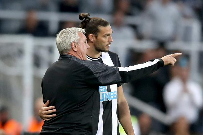 Newcastle head coach Steve Bruce is hoping Andy Carroll (right) can help to bring a spark to his team
