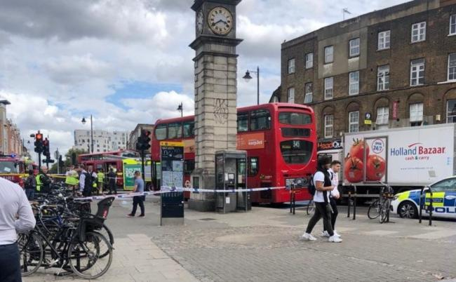 The scene near Clapham Common station. Picture: @ClaphamHomes