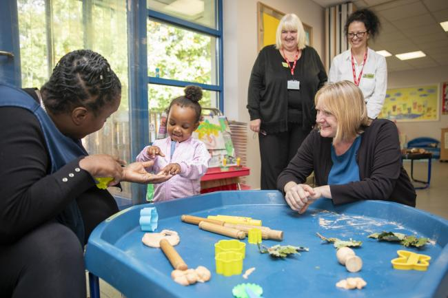 Deputy Mayor celebrates Wandsworth playschool's Early Years Hub success. Picture: GLA - Claudia Leisinger