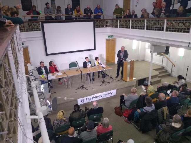 Candidates at the Putney Society Hustings this week. Credit - LDR Sian Bayley. Free for re-use.