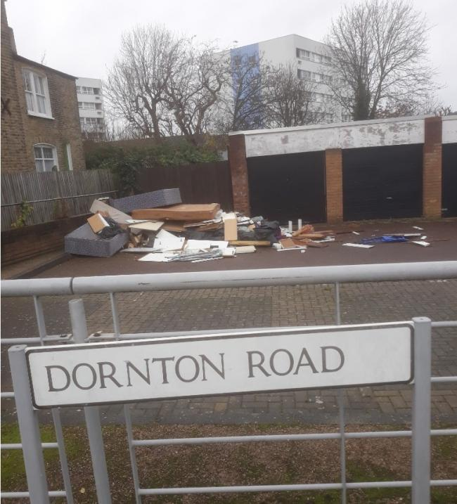 Huge flytip on Balham council estate linked to private address a mile away