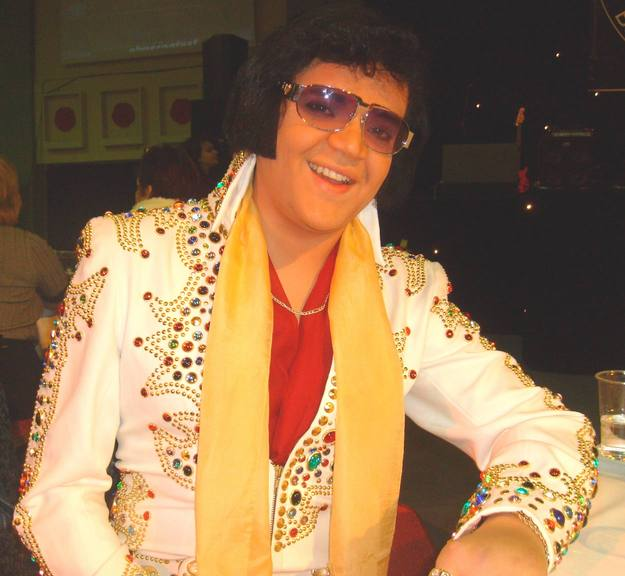 All shook up: Joel Ewens lost out to a professional Elvis impersonator