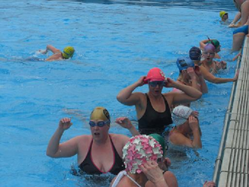 Swimmers in Tooting Bec Lido