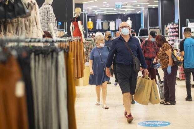 Wandsworth Times: People wear face masks as they shop inside Primark on Oxford Street