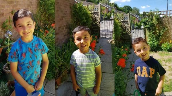 Abudcted: Bilal, Mohammed Ebrar and Mohammed Yaseen Safi, aged 6, 5, and 3.