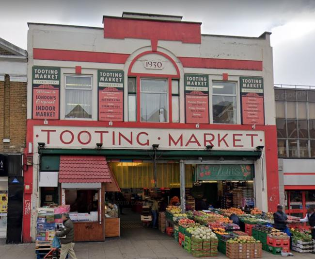 Tooting Market, where the raid took place last Saturday