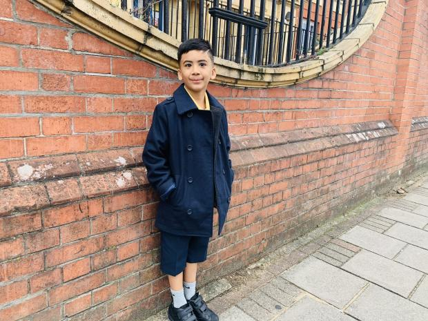 Wandsworth Times: Mahdi Ali, 6, walking to school