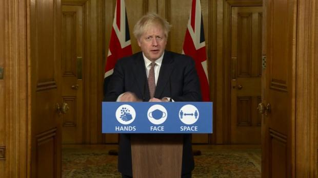 Prime Minister Boris Johnson addresses press conference. Image: PA Video/PA Wire
