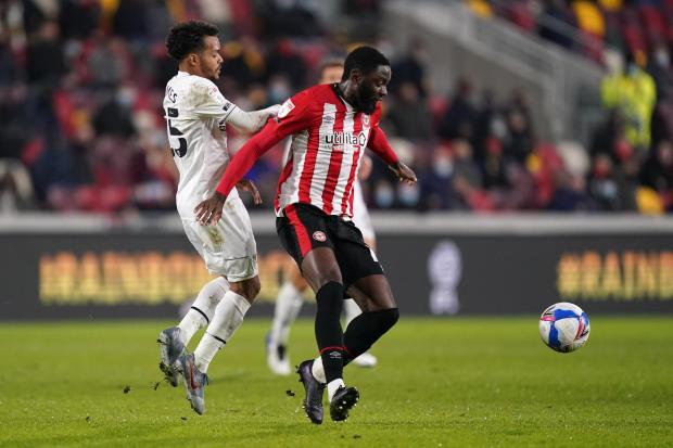 Wandsworth Times: Josh Dasilva missed the best of Brentford's chances