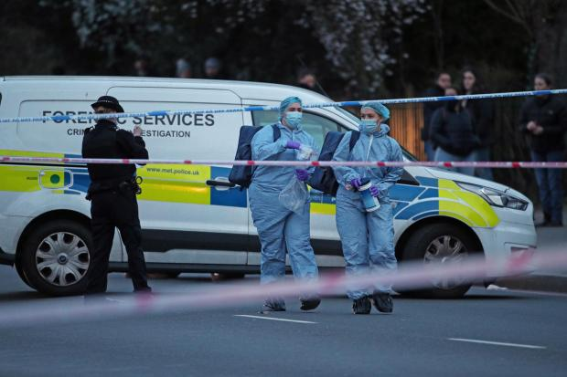 Wandsworth Times: Forensics outside Poynders Court on the A205 in Clapham