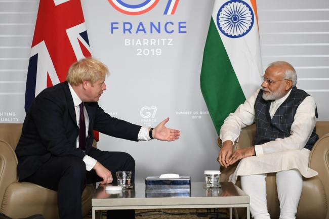 Boris Johnson and Narendra Modi
