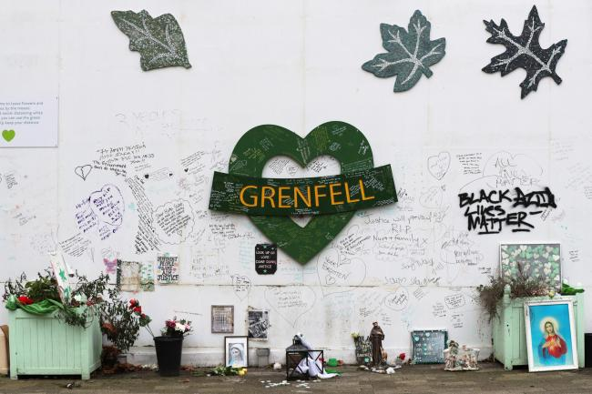The Grenfell Memorial Wall (Jonathan Brady/PA)
