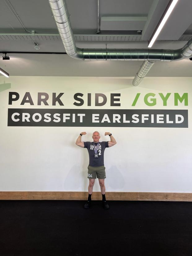 Wandsworth Times: Mr. Simonds-Gooding in his gym in Earlsfield