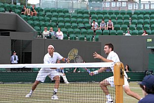 Rising stock: Ross Hutchins (left) and Colin Fleming enjoyed a tremendous run to the quarter-finals at Wimbledon in the men's doubles.