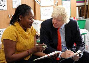 The Mayor of London visited Parent Gym, based at Shaftesbury Park Primary School, Battersea. Pic: Russell Trow