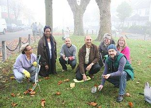 Norbury Residents Assocaition planted 2000 crocuses
