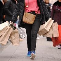People are feeling more confident about spending their money, a survey showed