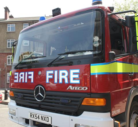 Firefighters called to roof blaze