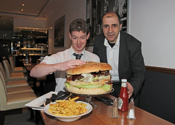 Nick Hitchens takes on Britain's biggest burger