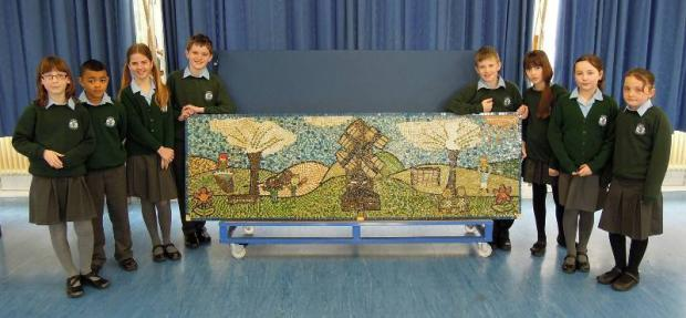 Mosaics unveiled at Tadworth primary