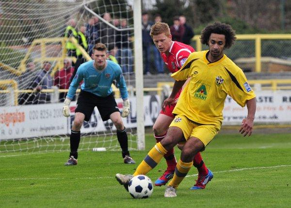 Growing Payne-s: Sutton striker Stefan Payne has grown up since he was last at Sutton in 2009