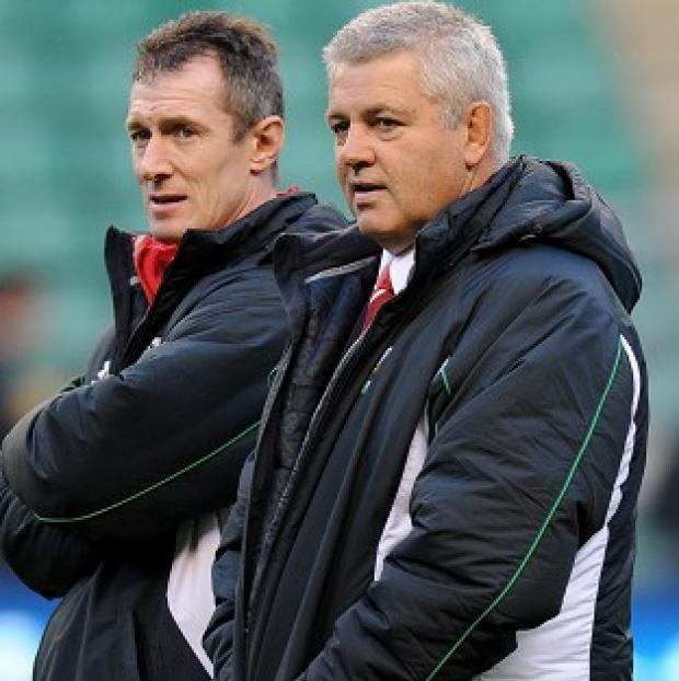 Rob Howley (left) and Warren Gatland
