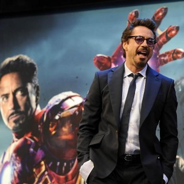 Robert Downey Jr plays Iron Man in box office smash Avengers Assemble