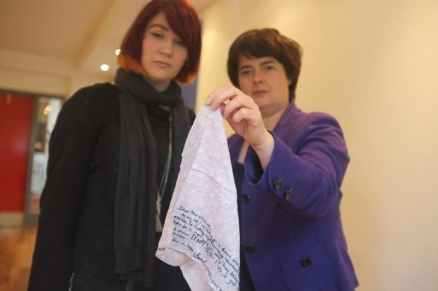 Activist grabs attention through hankies