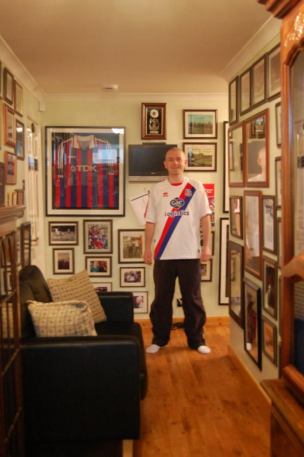 Winner: Andrew Carey in his Crystal Palace museum
