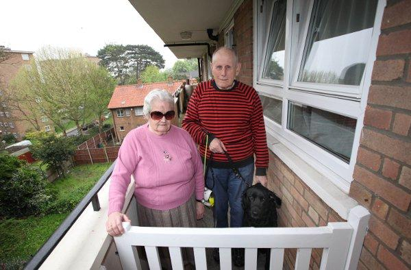 Blind couple's joy over council's gate decision