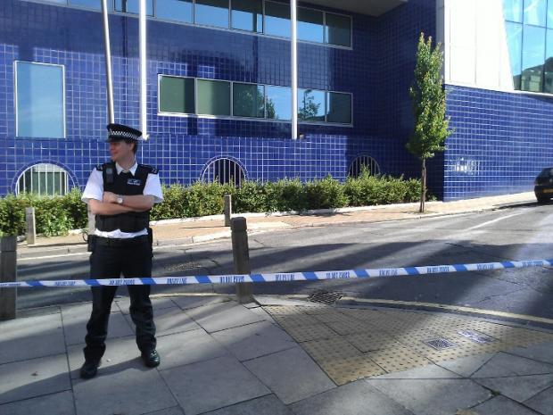 Police are on the scene in Wandsworth