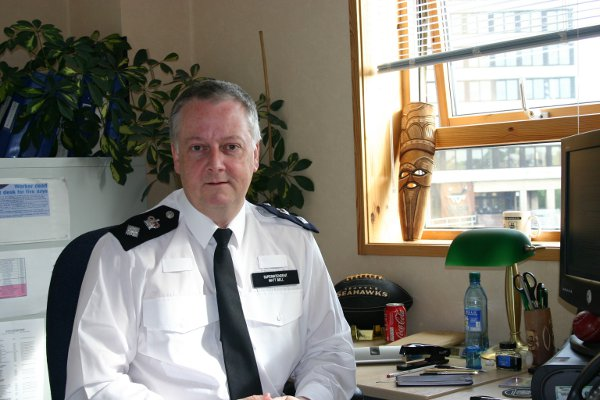 Chief Superintendent Matt Bell said the 20 per cent fall in officers means Lambeth now has just the number of police it should