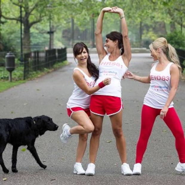 Roxanne Pallett, Christine Bleakley and Heidi Range are in training for the Race For Life