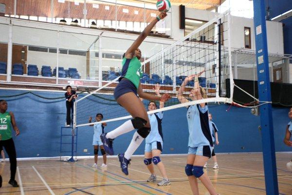 Inners and losers: Wandsworth girls beat Croydon girls in the volleyball final, but it was Croydon who won the overall London Youth Games title by one point
