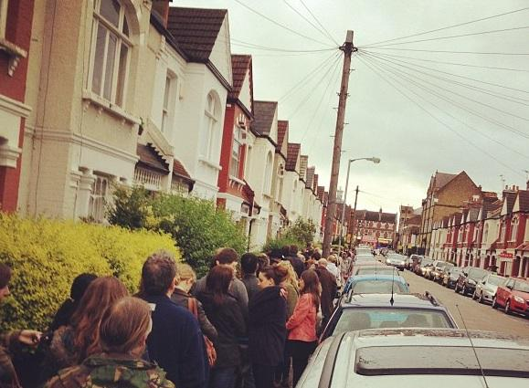 Queues at libraries in Wandsworth snaked around the buildings