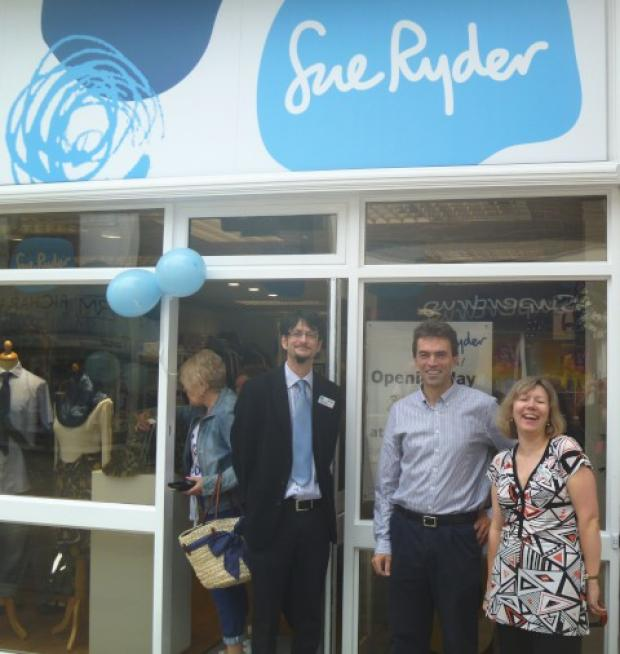 Divisional business manager Howard Bowles, MP Tom Brake and head of retail business development Katy Faulkner