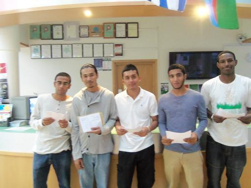 Students in Ernest Bevin College collect results