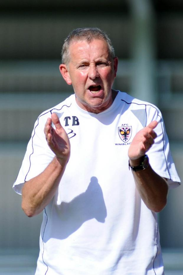 Don't panic: Dons boss Terry Brown is calling for calm after the side's recent poor run 	WI69689