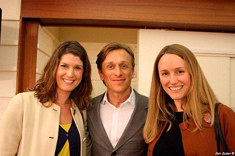 Little Big Peace Event organisers Anna Nolan and Zoe Robinson with Jeremy Gilley, founder of Peace One Day