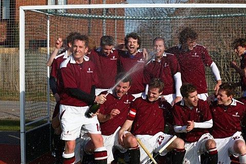 What a feeling: Richmond HC's men's firsts hope to be able to celebrate again when they start their National Conference East campaign at Old Loughtonians today