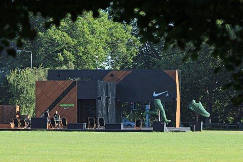 The Nike+ FuelStation on Clapham Common