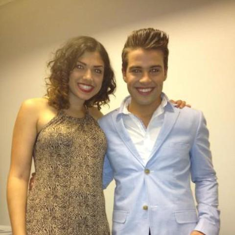 Wallington singer Rosanna Connolly supports X Factor winner Joe McElderry