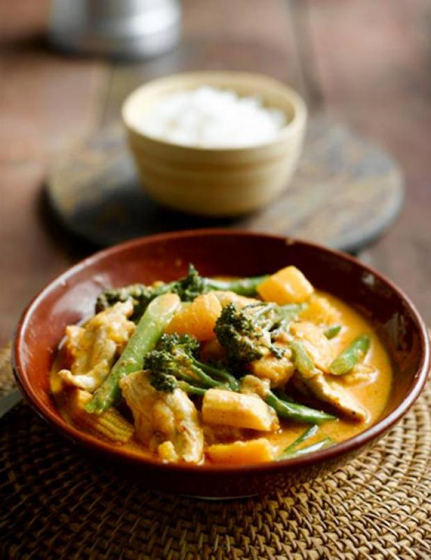Thai Chicken, Pumpkin and Tenderstem Curry