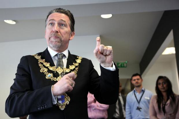 Mayor of Wandsworth Councillor Adrian Knowles participates in sign language event