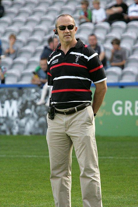 Harsh words: Director of erugby Conor O'Shea was not a happy man on Saturday night