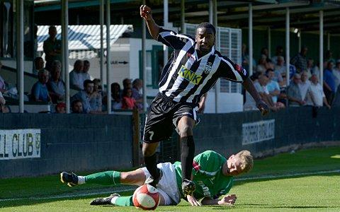 Results had to improve: An FA Cup defeat to Leatherhead did little to help Forzoni's position at the Terrors